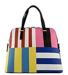 2Chique Boutique Womens Colorful Stripe Handbag