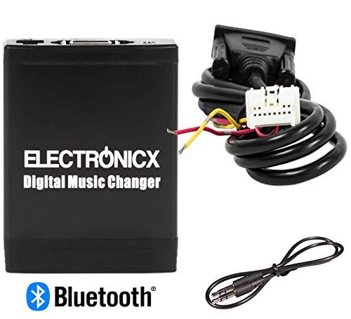 Electronicx Elec-M06-NIS-BT Adapter USB SD MP3 AUX Bluetooth Freisprechanlage für Nissan Infiniti Autoradio CD-Wechsler (Stereo Für 2008 Pathfinder Nissan)