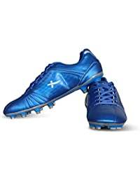 Vector X Velocity Football Shoes (Blue-Silver)