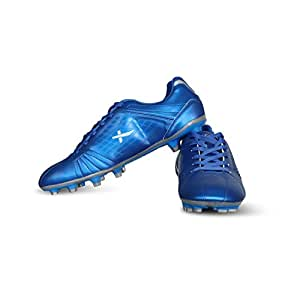 Vector X VELOCITY-BLU-SILVER-2 Football Shoes2 UK (Blue-Silver)