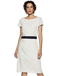 Harpa Women's A-Line Dress - Navy Color
