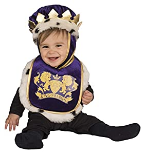 Rubies 510515 - Disfraz babero con sombrero de rey para bebé, 6-12 meses