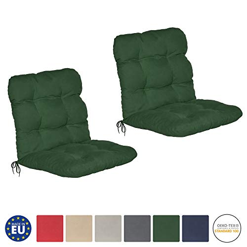 Beautissu Flair NL - Set de 2 Cojines para sillas de balcón...