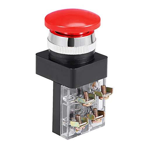Cuenta con acción momentánea, 1NO, 1NC tipo de contacto, esta tapa de seta 4 terminales de tornillo. Ampliamente utilizado para el control de arranque electromagnético, contactor y relé, u otro circuito para controlar el uso. Nota: Ten en cuenta el v...