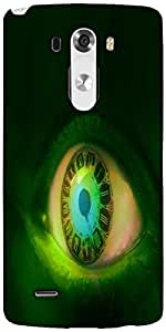 Snoogg Clock In A Green Eye 2605 Designer Protective Back Case Cover For LG G3
