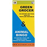 Prism Edutives Animal And Green Grocer Two Level Pictorial On Animal Facts And Fruits And Vegetables Bingo (Blue and Green)