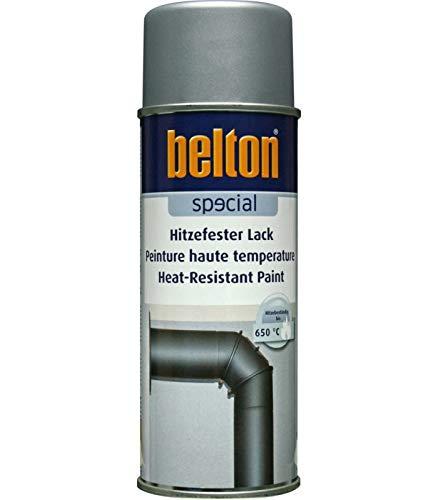 ARGENT Hte Température 650C (BELTON) (Bombe Peinture 400 ml) - Peinture Auto K resistante Hautes températures entre 300 et 800 degrés C pour applications diverses.