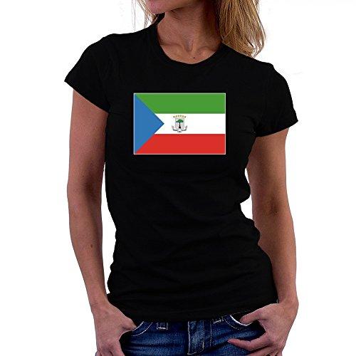 Teeburon Equatorial Guinea Flag Damen T-Shirt -