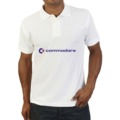 Commodore Computers Logo Retro Gaming Polo Shirt in 5 Colours - S to XXL