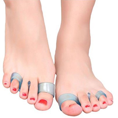 Pedimend™ Hammer Toe Straighteners | Soft Gel Toe Spacers Spreaders Stretchers | Correct Bent Toes | Bunion Pain Relief Separators | For Athlete Foot Claw Toes Yoga Feet