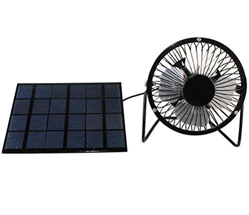 Preisvergleich Produktbild 3 W Solar Panel Powered 10, 2 cm USB Mini Fan tragbarer Ventilator für Wohnwagen Chicken House Gewächshaus Dach Vent
