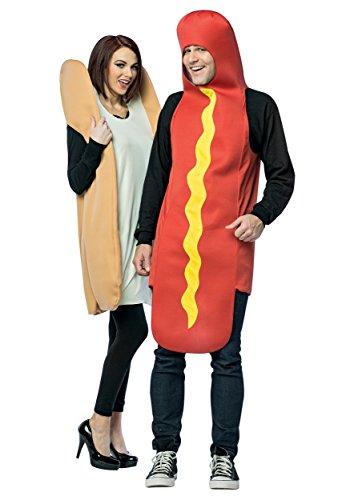 Imagen de disfraz de perrito caliente para pareja