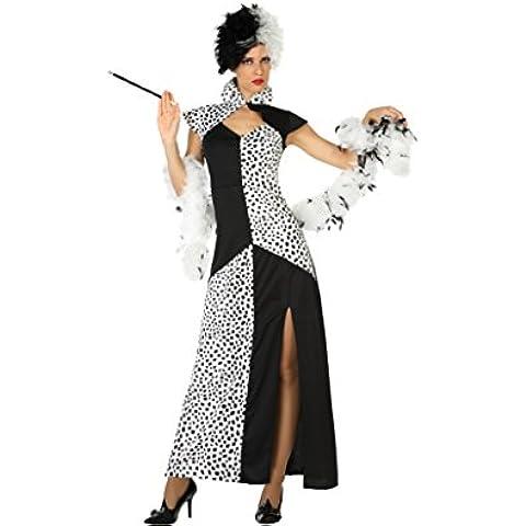 Atosa 18244–Cruella, disfraz de mujer, tamaño M–L, 38/40