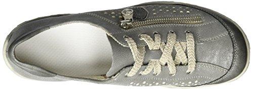 Rieker M3705, Sneakers Basses Femme Gris (Blei/stahl/altsilber / 45)