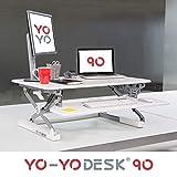 Yo-Yo DESK 90 (BIANCO) - Tavolo per lavoro in posizione eretta regolabile in altezza campione di vendite (Larghezza: 90cm). La miglior soluzione sit-stand adatta a tutte le postazioni dove si lavora in piedi.