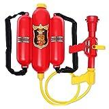 Rolanli Feuerwehrmann Rucksack Wasserpistolen Feuerwehr Spielzeug Zubehör Rollenspiel Spielzeug für Kinder