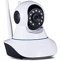 TELECAMERA IP DUE ANTENNE CAMERA HD 720P WIRELESS LED IR LAN MOTORIZZATA WIFI RETE INTERNET