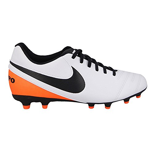 Nike Tiempo Rio Iii Fg, Chaussures de Football Compétition Mixte Enfant, 32 EU Blanc