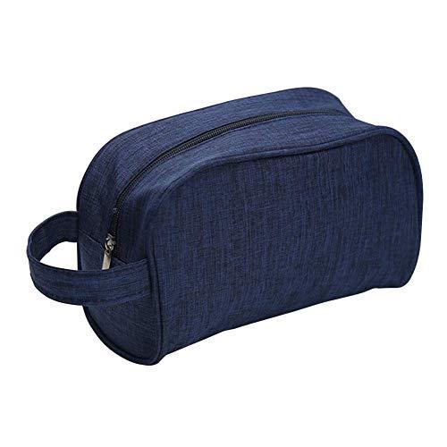 Hängendes Hygieneartikel Reisetasche, Reise Kosmetik Kulturbeutel Herren und Damen Toilettenartikel Tasche Vintage Polyester Kompakt Reise Make-Up Rasieren Dopp Set mit Griff - Marineblau, Free Size -