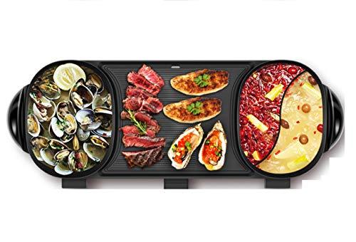 NANXCYR BBQ PotNicht-Stick Smokeless multifunktionale BBQ Doppel Topf elektrische backpfanne Top Round Steak