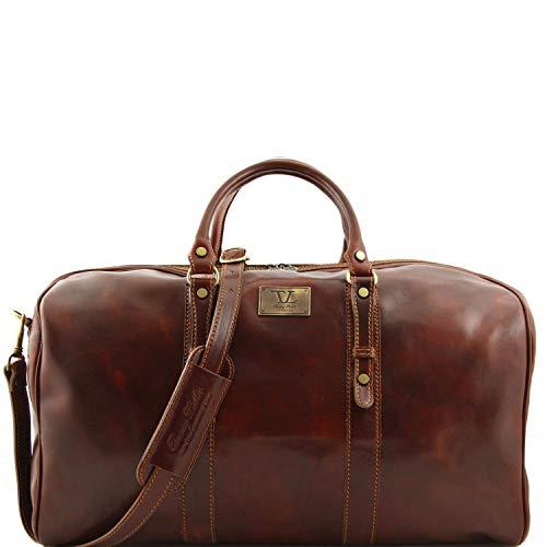Tuscany Leather Francoforte Elégant sac voyage en cuir - Grand modéle Marron