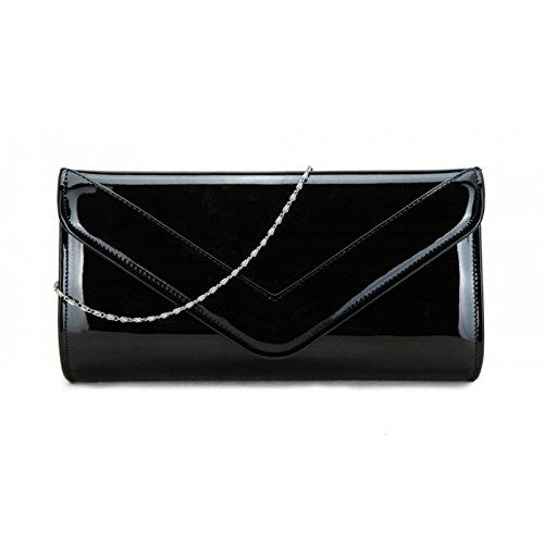 Elegant Fashions - Borsa a tracolla Ragazza donna Unisex, neonati Black