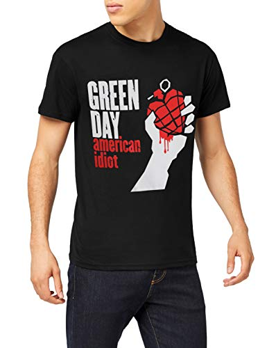 Green Day American Idiot T Shirt, Schwarz, 3XL - Green Hat Day