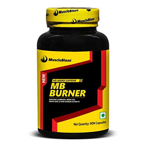 MuscleBlaze MB Burner with Garcinia Cambogia, Green Tea, Grape seed & Piper Nigrum Extract 910 mg , 90 capsules Unflavoured  available at amazon for Rs.449