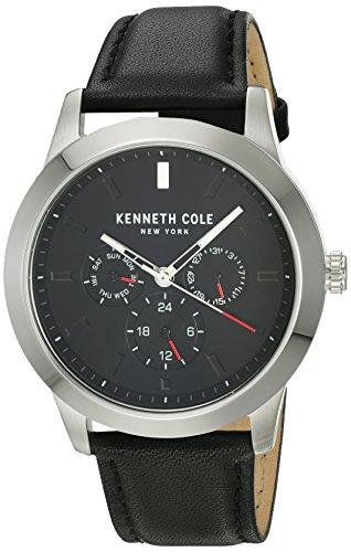 Kenneth Cole New York da uomo orologio da polso analogico al quarzo in pelle kc15102001