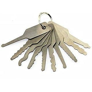 dmsbang 1PCS 10doppelseitig Auto Vorhängeschloss Schlüssel Öffner Tools