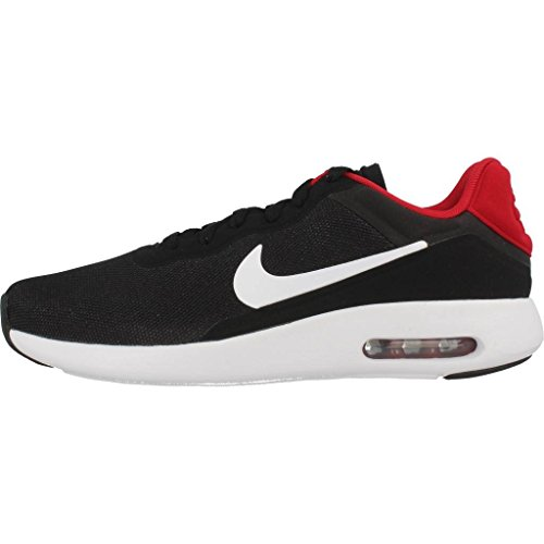 Basket, couleur Noir , marque NIKE, modÚle Basket NIKE AIR MAX MODERN ESSENTIAL Noir Multicolore (Black / White / Gym Red / White)