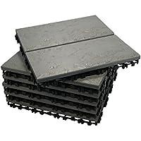 ECO-PAVE 7610371502755 acuática antideslizante suelo de color antigua arena 30x30 cm 6 piezas