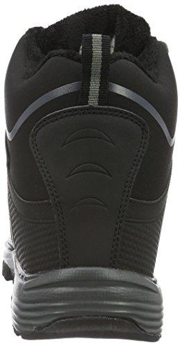 ConWay Unisex-Erwachsene 607400 Kurzschaft Stiefel Schwarz (Schwarz/Grau)