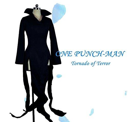 Sunkee One Punch Man Kapuzenpullover Saitama Oppai Kostüm Cosplay Ausstattung Overall,Maßgeschneidert ( Bitte geben Sie uns Ihr Gewicht, Höhe, Breite, Brust, Taille und Hüfte) (XL: 170-175cm, Tornado Cosplay) (Erwachsene Tornado Kostüme)