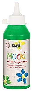 Mucki 28405 - Tela, Pintura del Dedo 250 ml, Verde