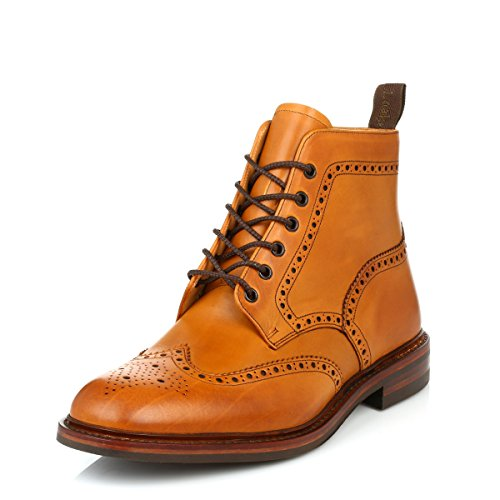 loake-herren-tan-burford-dainite-calf-leder-brogue-stiefel-uk-10