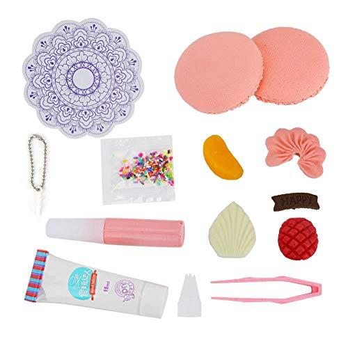 12 stücke kunststoff wasserlösliche harz macaron cupcakes form diy kinder kunst und handwerk kuchen spielzeug(EIN#) -