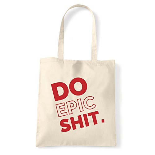 Art T-shirt, Borsa Shoulder Do Epic Shit, Shopper, Mare Natural