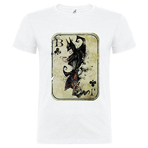 T-Shirt manica corta Unisex Batman Joker By Bikerella BIANCO/COLOR