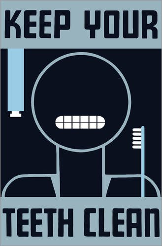 Posterlounge Stampa su Legno 80 x 120 cm: Keep Your Teeth Clean di John Parrot/Stocktrek Images