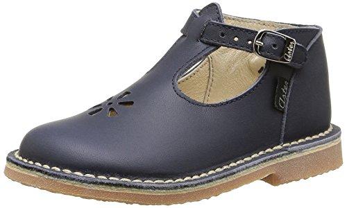 Aster Bimbo, Mädchen Sandalen mit T-Riemen, blau - Blau (Marineblau) - Größe: 19 EU
