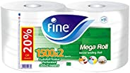 Fine, Sterilized Kitchen Towel, Mega Roll, 325 meters, pack of 2, 3000 sheets