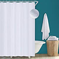 Utopia Home White Shower Curtain Fabric,183 cm x 183 cm- Water-Repellent Antibacterial and Mildew Resistant