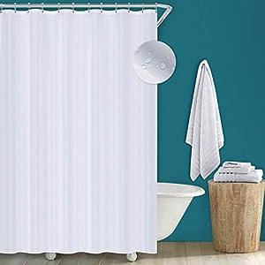 Utopia Home Cortina De Ducha – Cortinas De Baño – Blanco – Impermeable y Resistente al Moho (180 x 200 cm)
