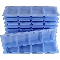 Medikamentendispenser Medi-Inn Tablettenbox Pillenbox Tages - Dispenser mit 4 Fächer(blau XL Spezial,10 Stück)