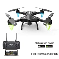 ‏‪F69 Drone Discovery 2 WiFi FPV RC Quadcopter with 1080P HD Camera Helicopters VR Video 1080 Battery Kid Aircraft Toy Gift‬‏