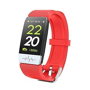 HQHOME Fitness Tracker, Smartwatch Wasserdicht IP67 Fitness Armband mit Pulsmesser 1.14 Zoll Farbbildschirm Aktivitätstracker Pulsuhren Schrittzähler Uhr Smart Watch Fitness Uhr für Damen Herren