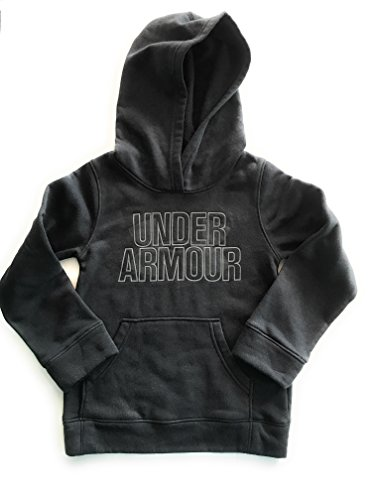 Under Armour Youth Girls Cotton-blend Fleece Logo Hoodie (Black, Medium) Youth-fleece-sweatshirt