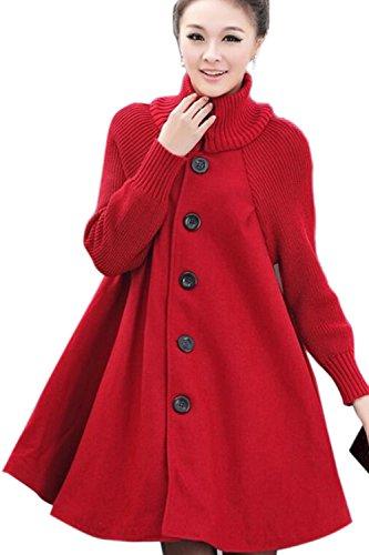 Un Hiver Cowl Cou Droit Des Trench - Coats Cape Vêtements red