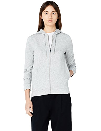 MERAKI Damen Hoody mit Reißverschluss, Grau (Grey), XXX-Large